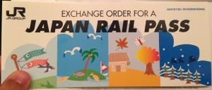 EXCHANGE ORDER FOR JAPAN RAIL PASS
