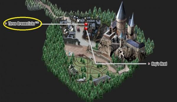 Three Broomsticks map